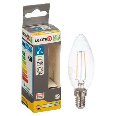 Żarówka E14 (230 V) 2,5 W 249 lm Ciepła biel LEXMAN