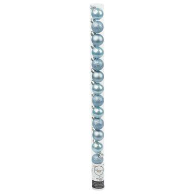 Bombki plastikowe 3 cm 15 szt. niebieskie