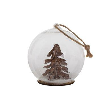 Zawieszka kula śnieżna z choinką 8.5 cm 1 szt.