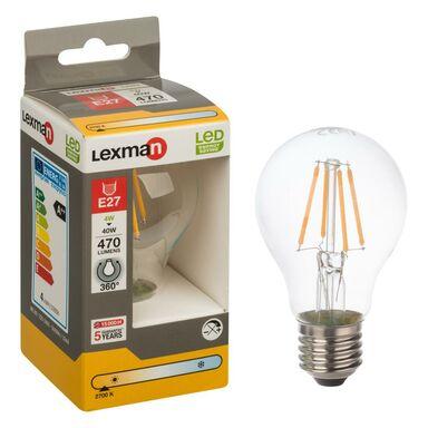 Żarówka LED E27 (230 V) 4 W 470 lm Ciepła biel LEXMAN