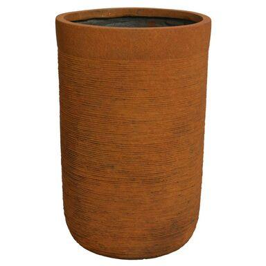 Donica okrągła 37 cm rdzawa z włókna szklanego