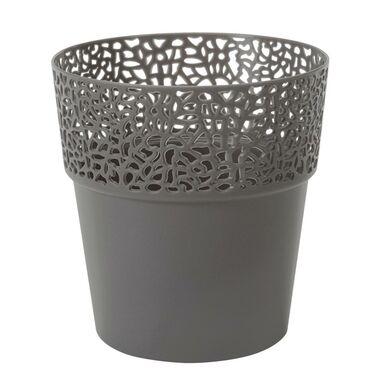 Osłonka na doniczkę 13 cm plastikowa antracytowa ROSA