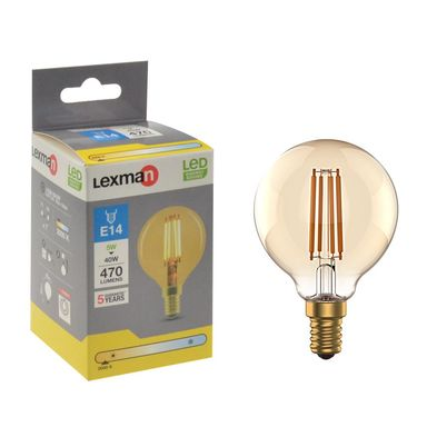 Żarówka dekoracyjna LED E27 5 W = 40 W 470 lm Ciepła LEXMAN