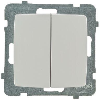 Włącznik podwójny KARO  Biały  OSPEL