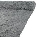 Tkanina na narzutę na mb SHAGGY szara szer. 166 cm