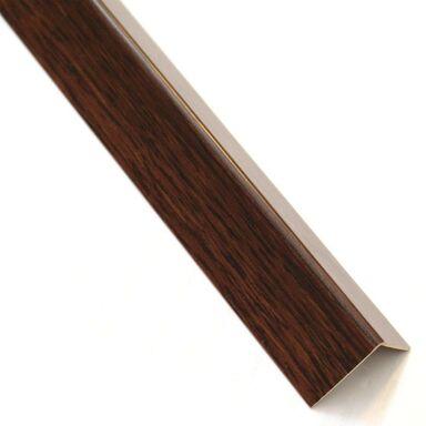 Kątownik PVC 2.6 m x 11 x 11 mm matowy drewno ciemne STANDERS