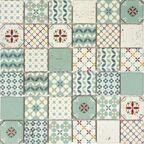 Mozaika Locarno Mix Green White Mat 30 x 30 Artens