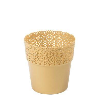 Osłonka na doniczkę 13 cm plastikowa złota BELLA