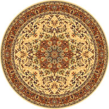 Dywan wełniany okrągły KORDOBA kremowy 135 x 135 cm DYWILAN