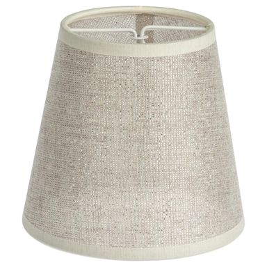 Abażur MONTE CARLO 12 x 11 cm tkanina srebrny E14