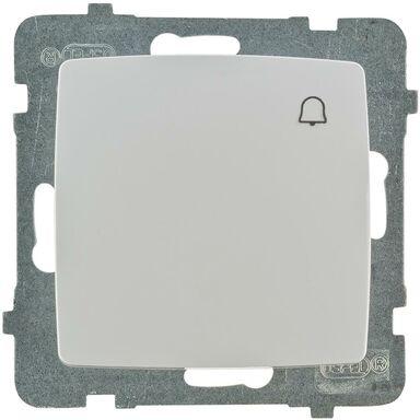 Przycisk DZWONEK KARO  Biały  OSPEL
