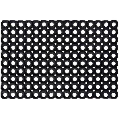 Wycieraczka zewnętrzna Domino 60 x 40 cm gumowa czarna