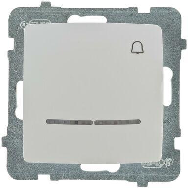 Przycisk dzwonek podświetlany KARO  biały  OSPEL