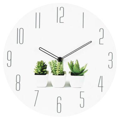 Zegar ścienny PLANT śr. 30 cm biały