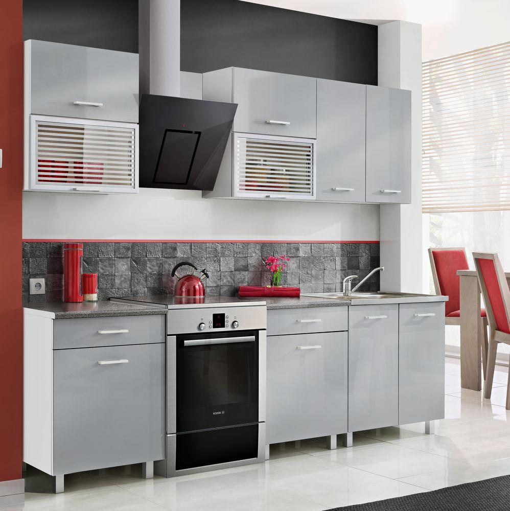 Meble kuchenne w zestawach  Fiona szara w sklepach Leroy Merlin  -> Leroy Merlin Kuchnia Fiona Biala