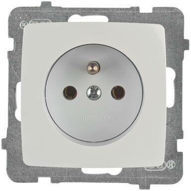 Gniazdo pojedyncze KARO  biały  OSPEL