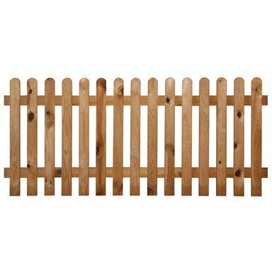 Płot sztachetowy 180x60 cm drewniany STELMET