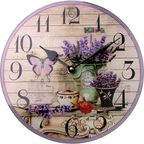 Zegar ścienny PROWANSJA śr. 25 cm fioletowy