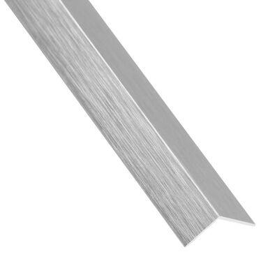 Kątownik aluminiowy 2.6 m x 16 x 16 mm srebrny szczotkowany STANDERS