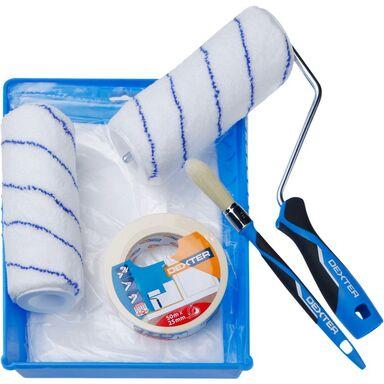 Zestaw malarski 6 części (kuweta, wałek, zapas, taśma, folia, pędzel) Dexter