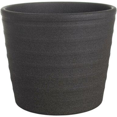 Osłonka na doniczkę 15.5 cm ceramiczna grafitowa