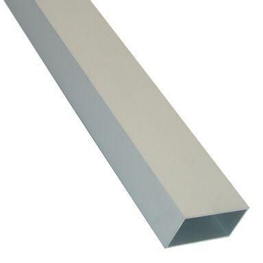 Rura prostokątna aluminiowa 1 m x 45 x 25 mm surowa srebrna STANDERS