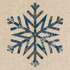 Serwetki świąteczne Big snowflake 33 x 33 cm 20 szt.