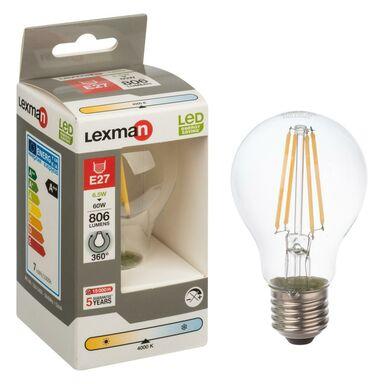 Żarówka LED E27 (230 V) 6.5 W 806 lm Neutralny LEXMAN
