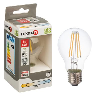 Żarówka LED E27 (230 V) 6 W 806 lm Neutralna LEXMAN