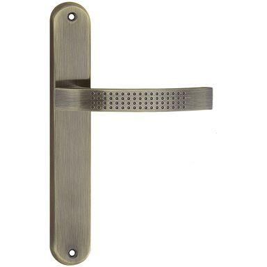 Klamka drzwiowa z długim szyldem ASTRA Patyna