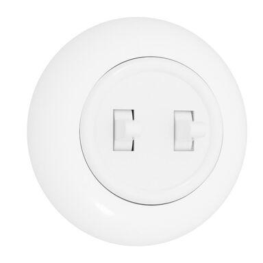 Włącznik podwójny SCHODOWY LF0022W LOFT  biały  DPM