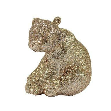 Zawieszka niedźwiedź 6 cm 3 szt. złoty
