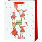 Torebka na prezenty Santa presents 13 x 26.5 cm