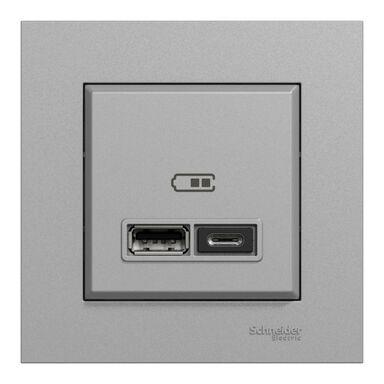 Gniazdo USB A+C  Miluz Ed aluminium SCHNEIDER ELECTRIC