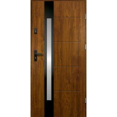 Drzwi zewnętrzne stalowe ARIADNA Złoty dąb 90 Prawe