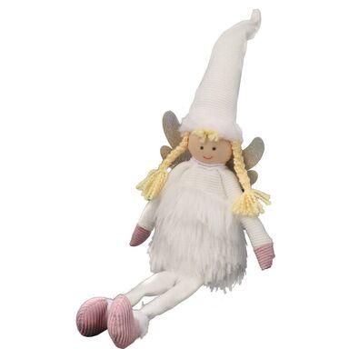 Zawieszka elf w białej sukience 14 cm 1 szt.
