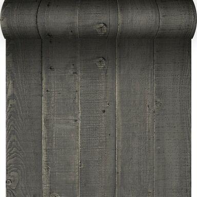 Tapeta Wood czarna imitacja deski winylowa na flizelinie