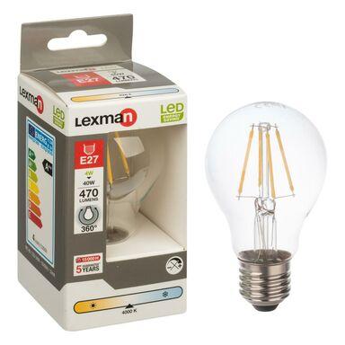 Żarówka LED E27 (230 V) 4 W 470 lm Neutralna biel LEXMAN