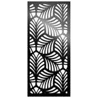 Panel ażurowy LIŚCIE Czarny 90 x 200 cm