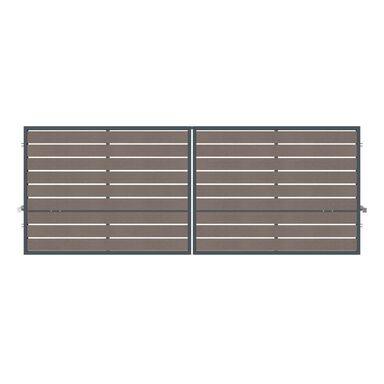 Brama dwuskrzydłowa BURSZTYN 400 x 150 cm inteligentna z automatem POLARGOS