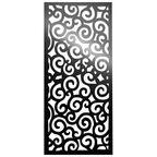 Panel ażurowy TRADYCYJNY Czarny 90 x 200 cm