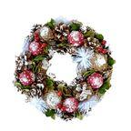 Wianek świąteczny  30 cm dekorowany