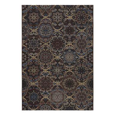 Dywan zewnętrzny Borneo brązowo-bordowy turecki 120 x 170 cm