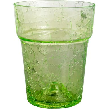 Osłonka do storczyka 13.5 cm szklana zielona
