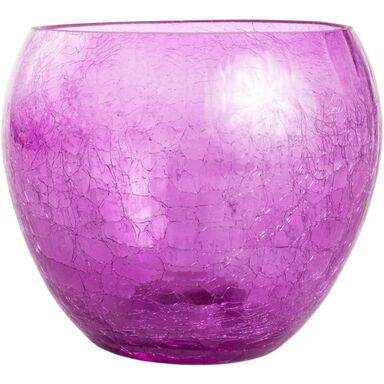 Osłonka do storczyka 15 cm szklana różowa FIONA