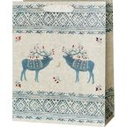 Torebka na prezenty Ethno deers 13 x 26.5 cm