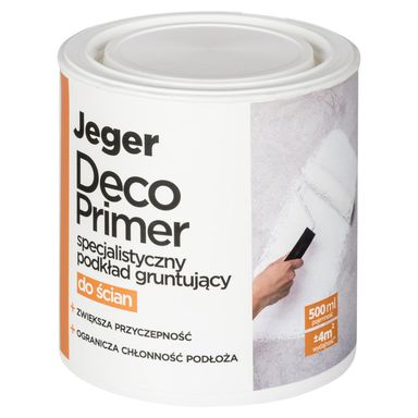 Podkład gruntujący specjalistyczny DECO PRIMER do ścian 0.5 l JEGER