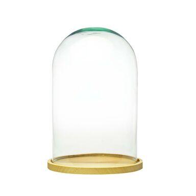 Klosz szklany na podstawie 25 cm