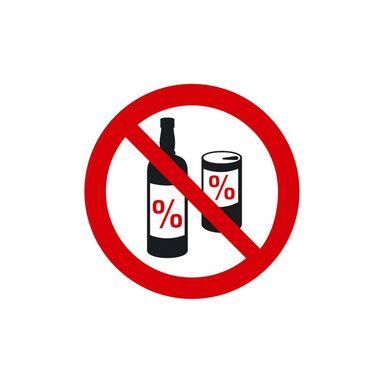 Znak informacyjny ZAKAZ SPOŻYWANIA ALKOHOLU