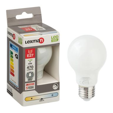 Żarówka LED E27 (230 V) 4,5 W 470 lm LEXMAN